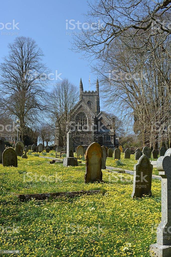 All Saints Parish Church, Okehampton, Devon stock photo