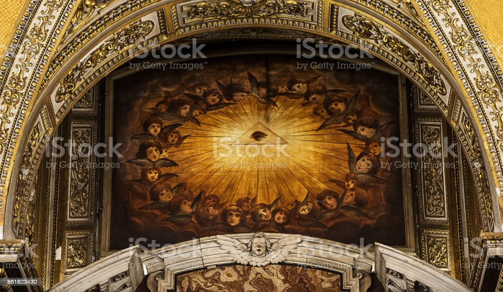 All Seeing Eye . stock photo