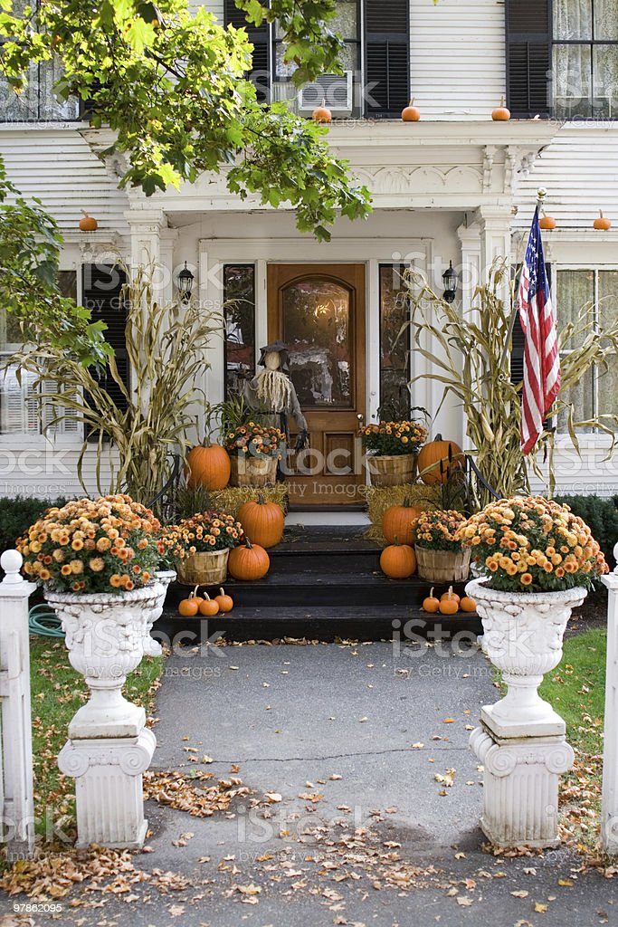 All set and ready for Halloween at home stock photo