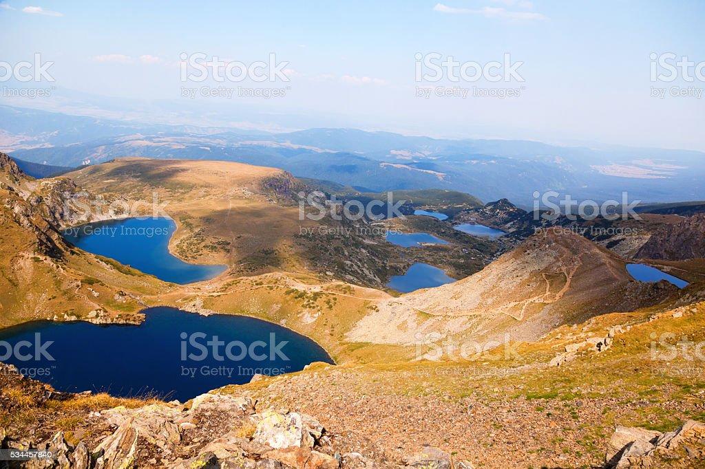 All Seven Rila Mountain Lakes stock photo