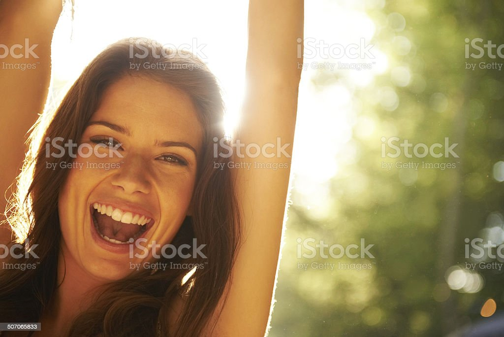 All smiles and excitement stock photo