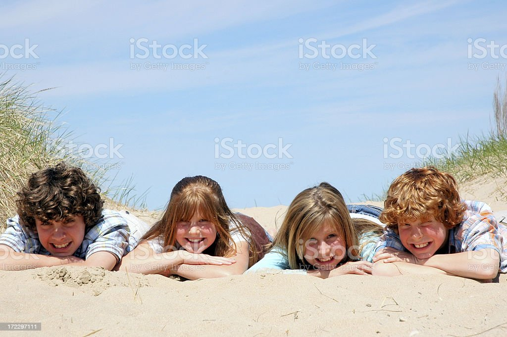 All Smiles at the Beach ! royalty-free stock photo