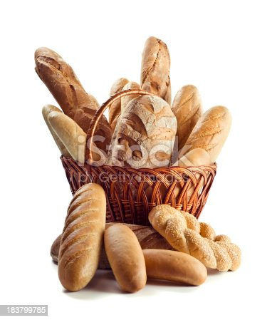 High quality isolated. All sorts breads composition