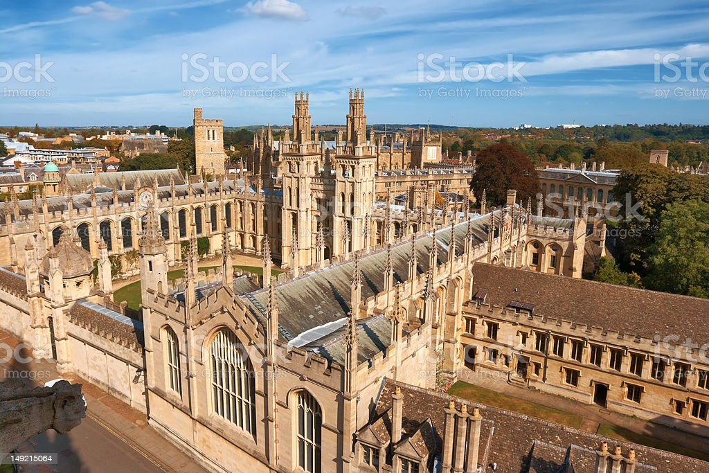 All Souls College. Oxford, England royalty-free stock photo