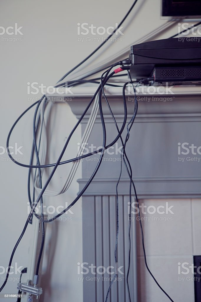 All tangled up stock photo