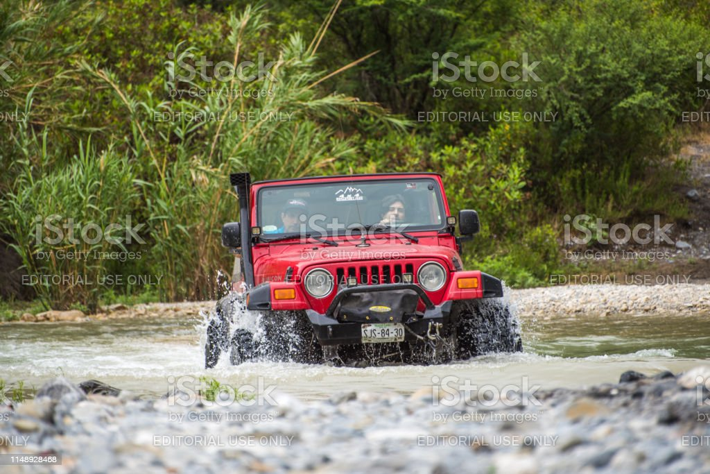 Rio Pilon, Nuevo Leon, Mexico. May 12, 2019. All terrain vehicle...