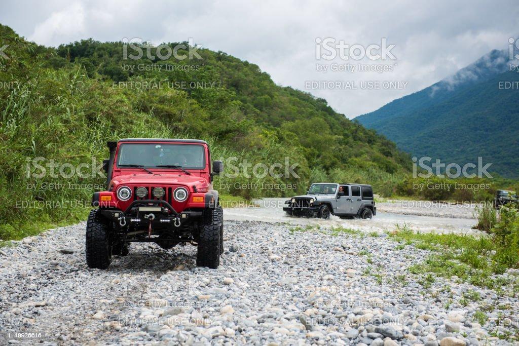 Rio Pilon, Nuevo Leon, Mexico. May 12, 2019. Off-road vehicle...