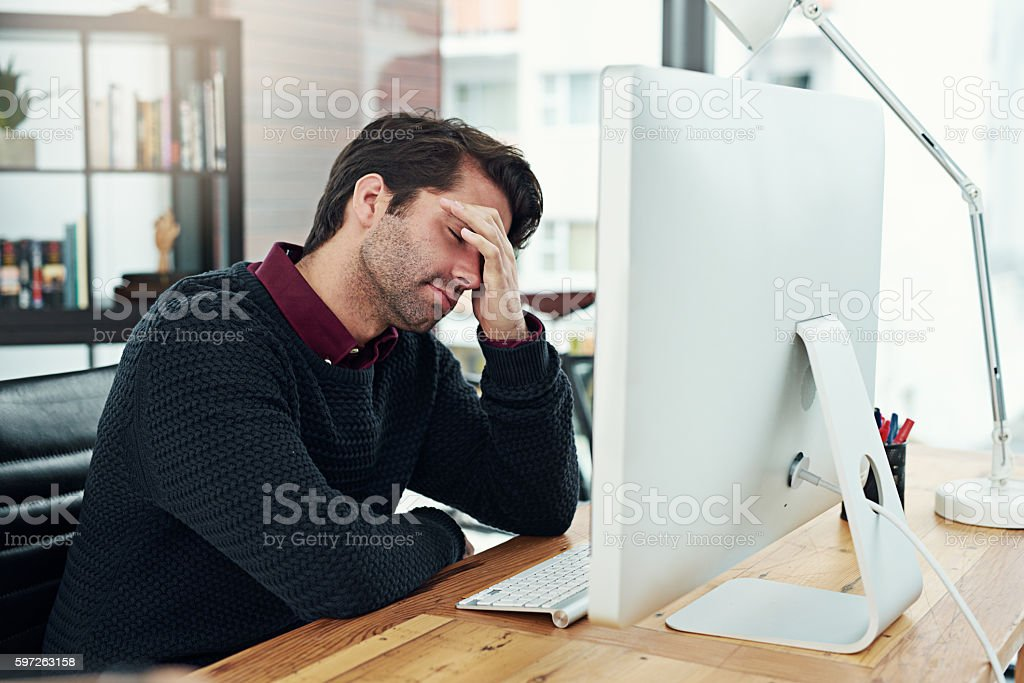 All that work and I forgot to save it! stock photo