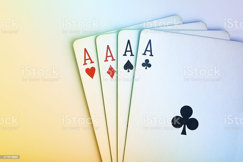 All the Aces in Cards royalty-free stock photo