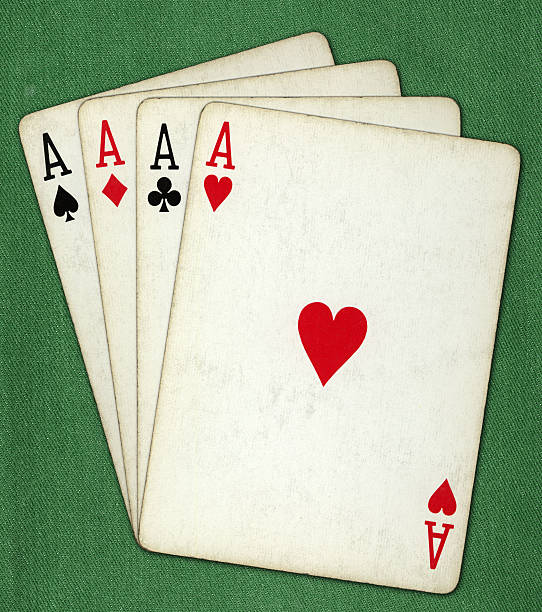 all the aces stock photo