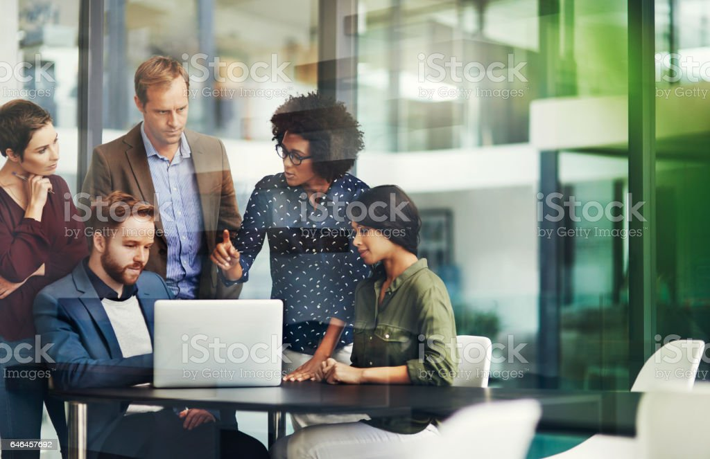 All the information they need for a productive collaboration stock photo