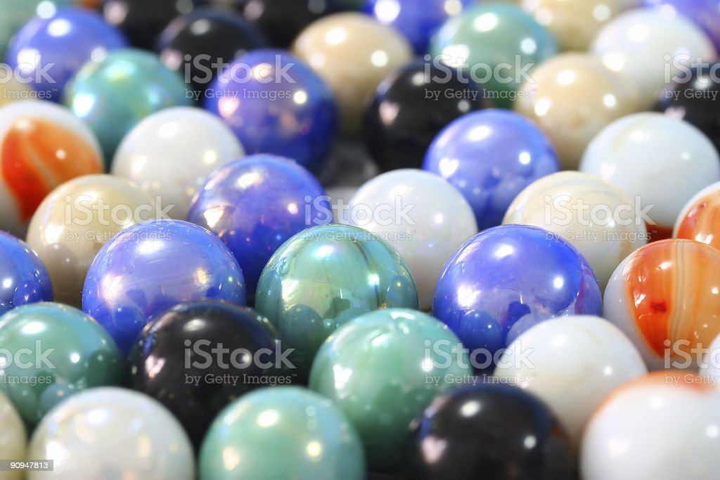 All the marbles royalty-free stock photo