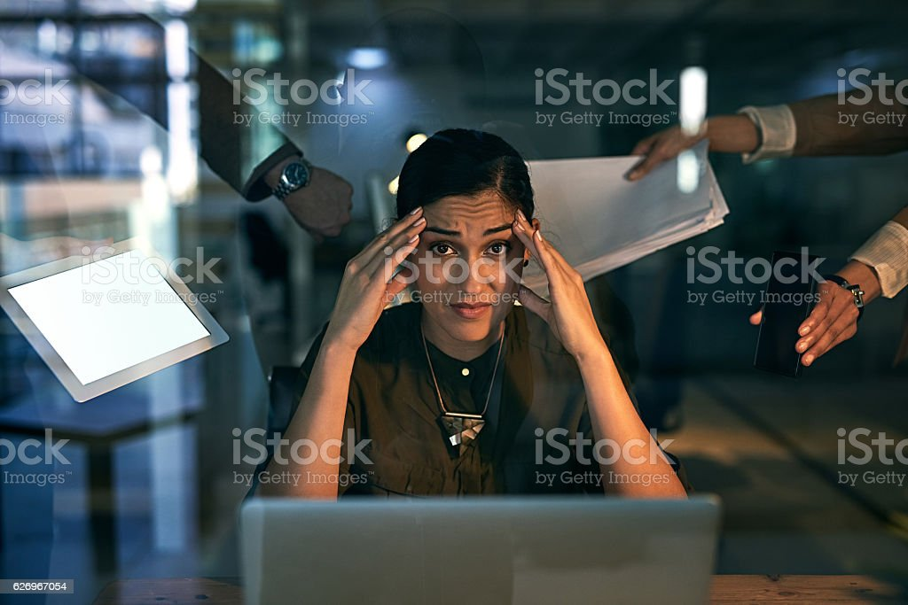 All the pressure is on me! stock photo