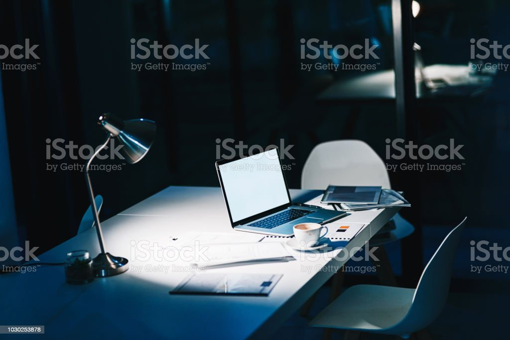All the right tools for the late shift stock photo