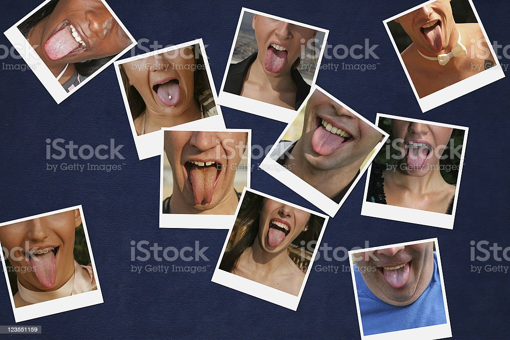 All the tongues I could get royalty-free stock photo