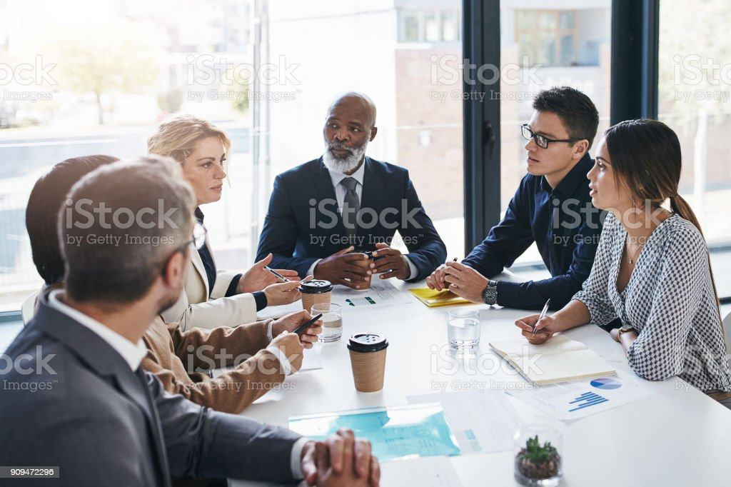 All their input is vital when it comes to decision-making stock photo