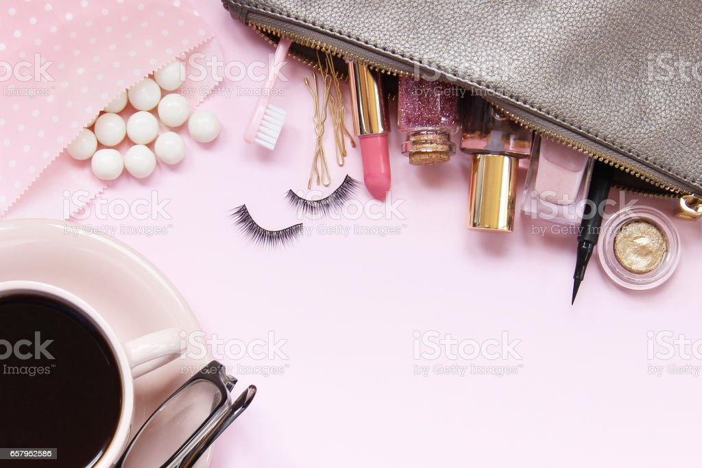 All things pink stock photo