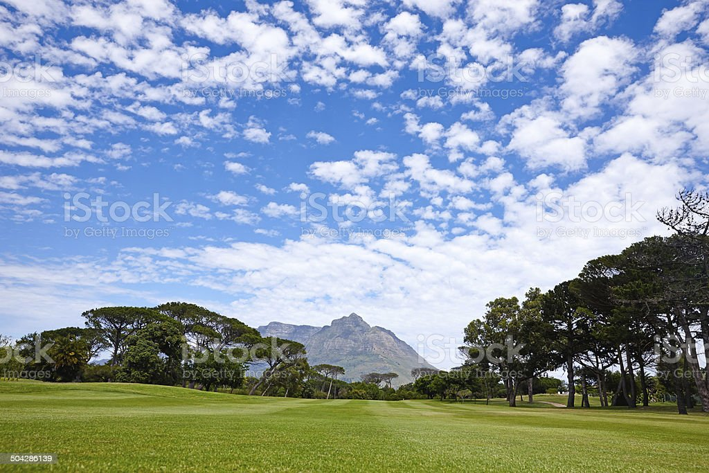 All this and you get to play golf too royalty-free stock photo