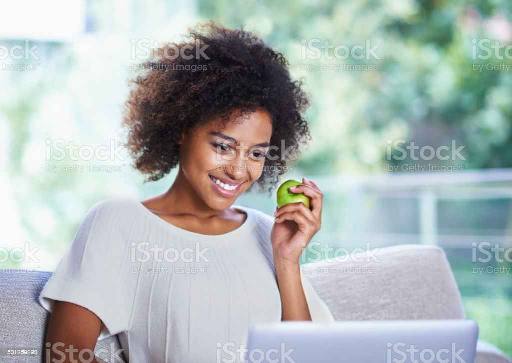 All this surfing is giving me an appetite stock photo