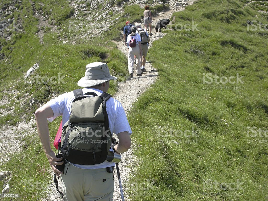 All This Way over the Alps royalty-free stock photo