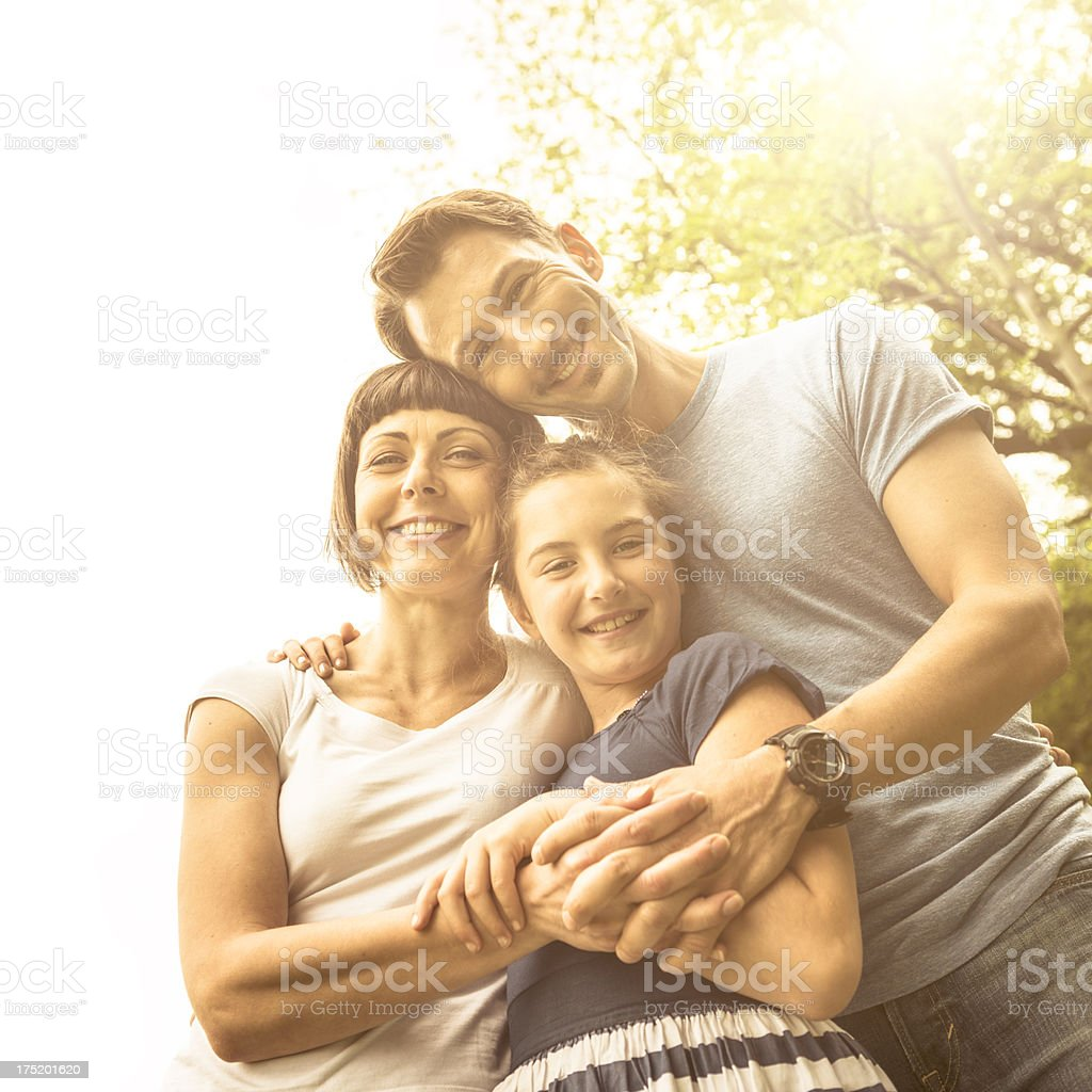 All together with my family royalty-free stock photo