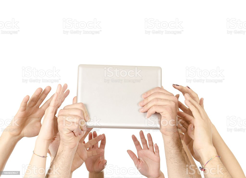 All wants a digital tablet - isolated on white royalty-free stock photo