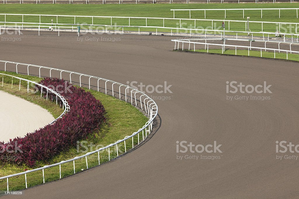 All Weather Track in Racecourse stock photo