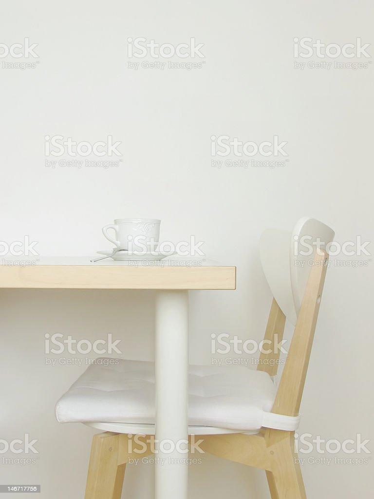 All white interior stock photo