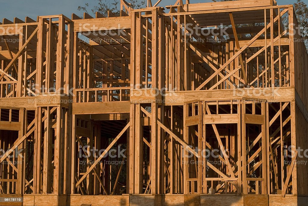 All Wood Construction royalty-free stock photo