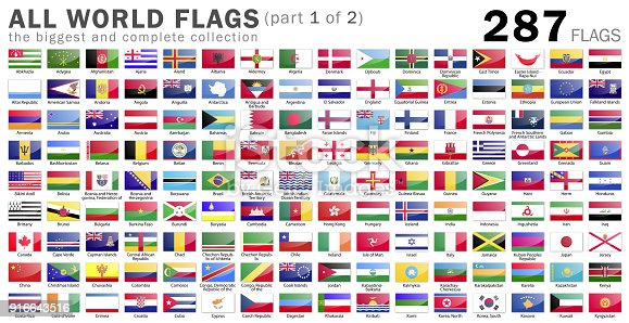 All Vector Illustration World Flags