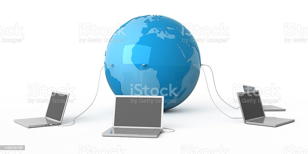 All world in your laptop. royalty-free stock photo