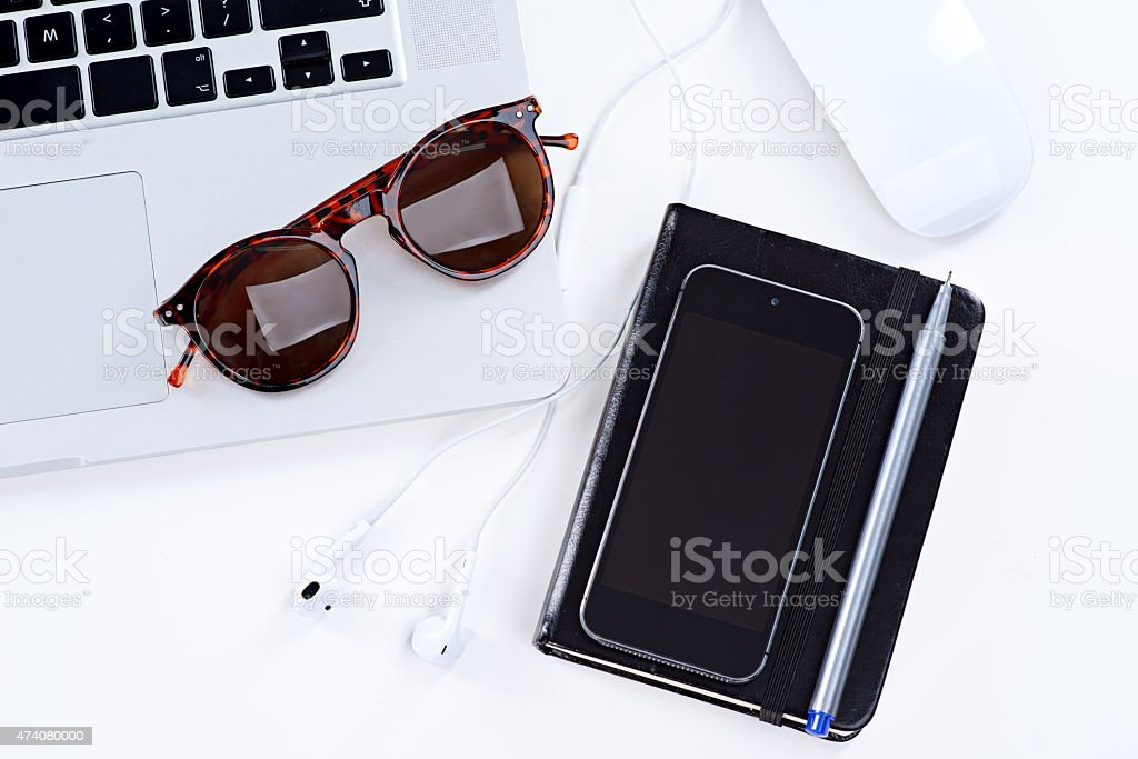 All you need for a productive day stock photo