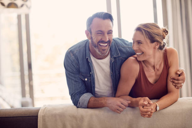 All you need is love and laughter stock photo