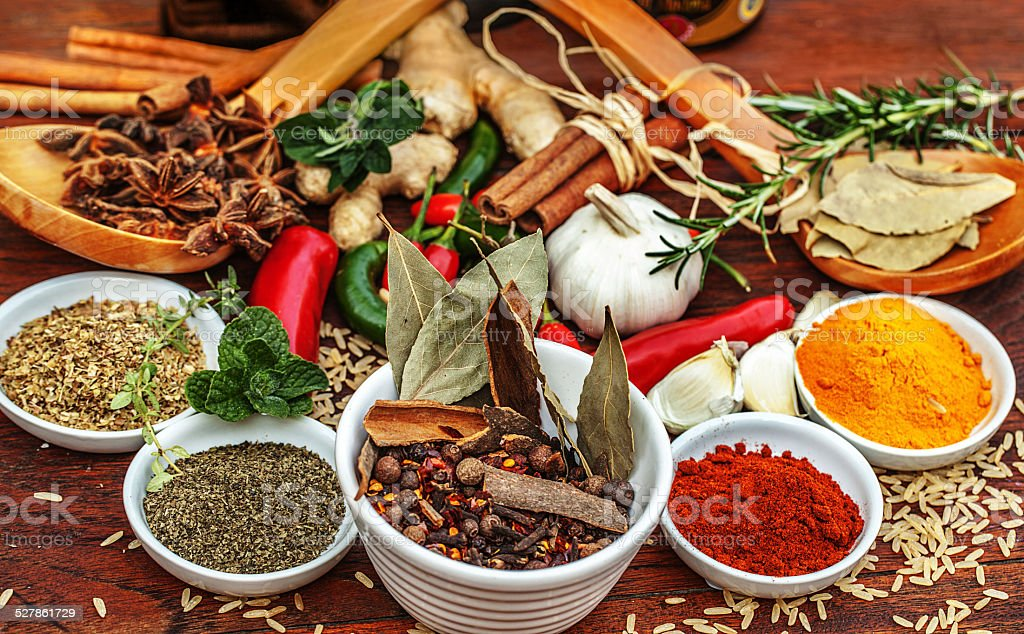 All your favorite spices stock photo