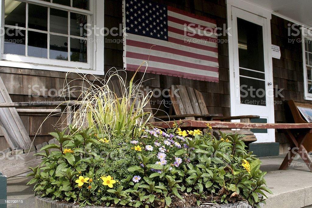All-American porch stock photo