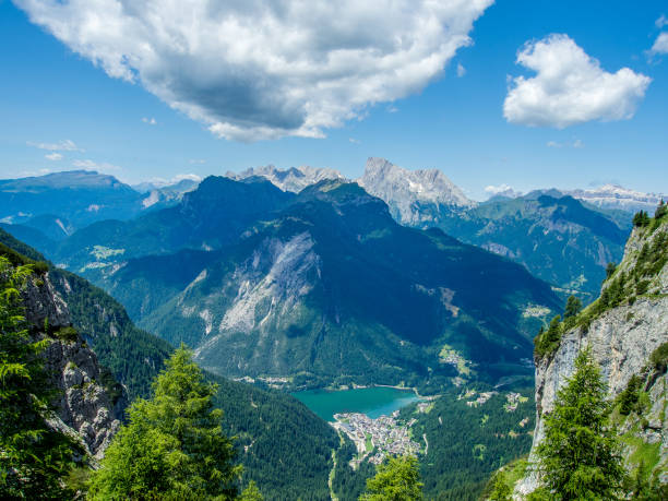 Alleghe - Dolomites - Italy stock photo