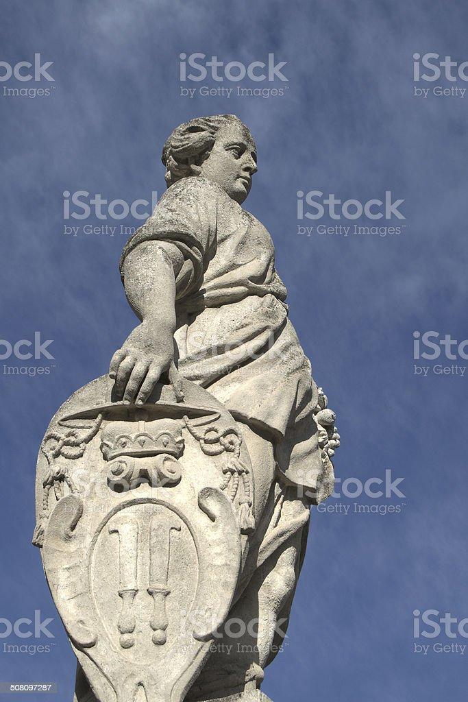 Allegoric statue of Pomona, Mikulov, Czech Republic stock photo