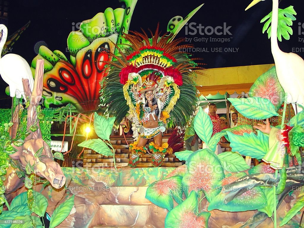 Allegorical parade during the Boi Bumba festival in Parintins stock photo