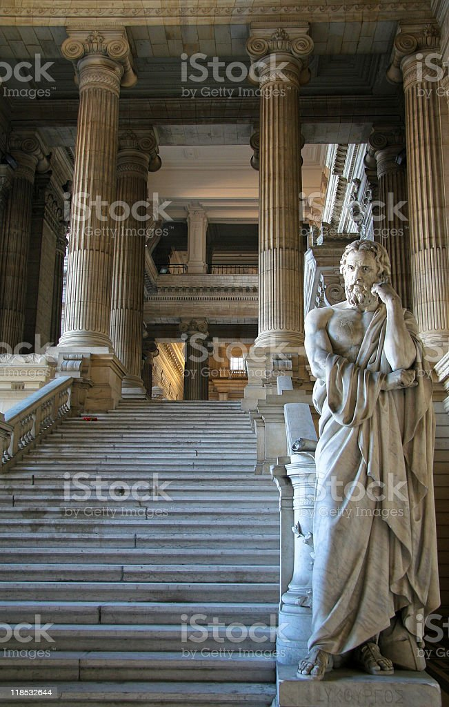 Allegorical representation of justice stock photo