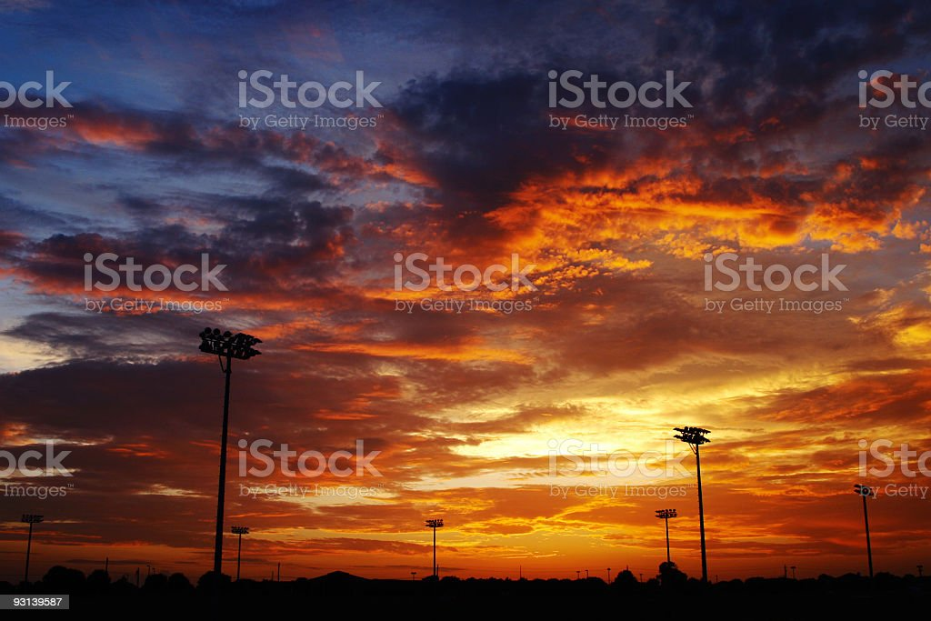 Allen Celebration Park Sunset stock photo