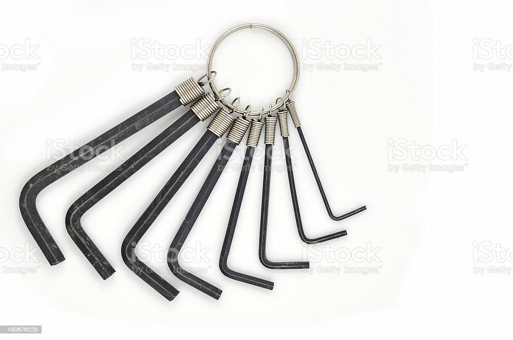 Allen keys stock photo