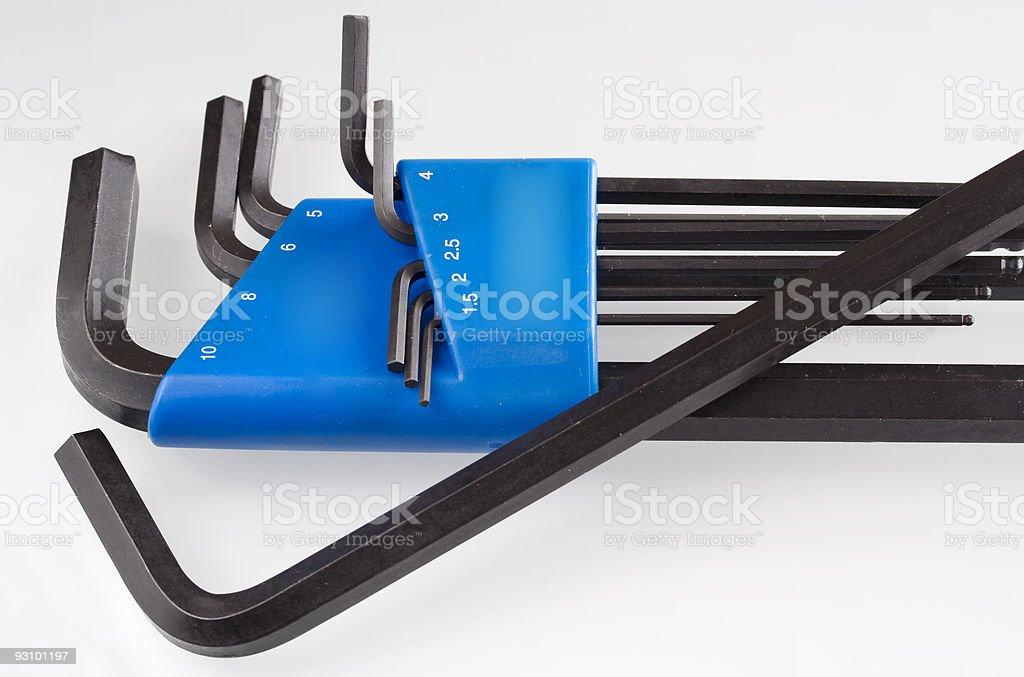 Allen Wrench Set royalty-free stock photo
