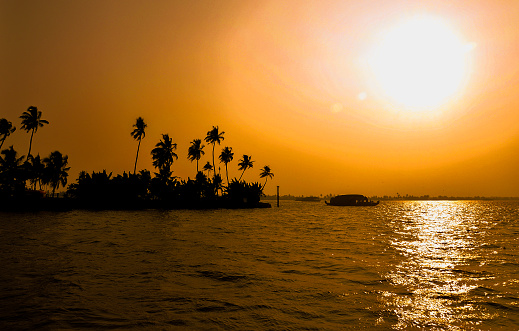 Silhouette of beautiful \