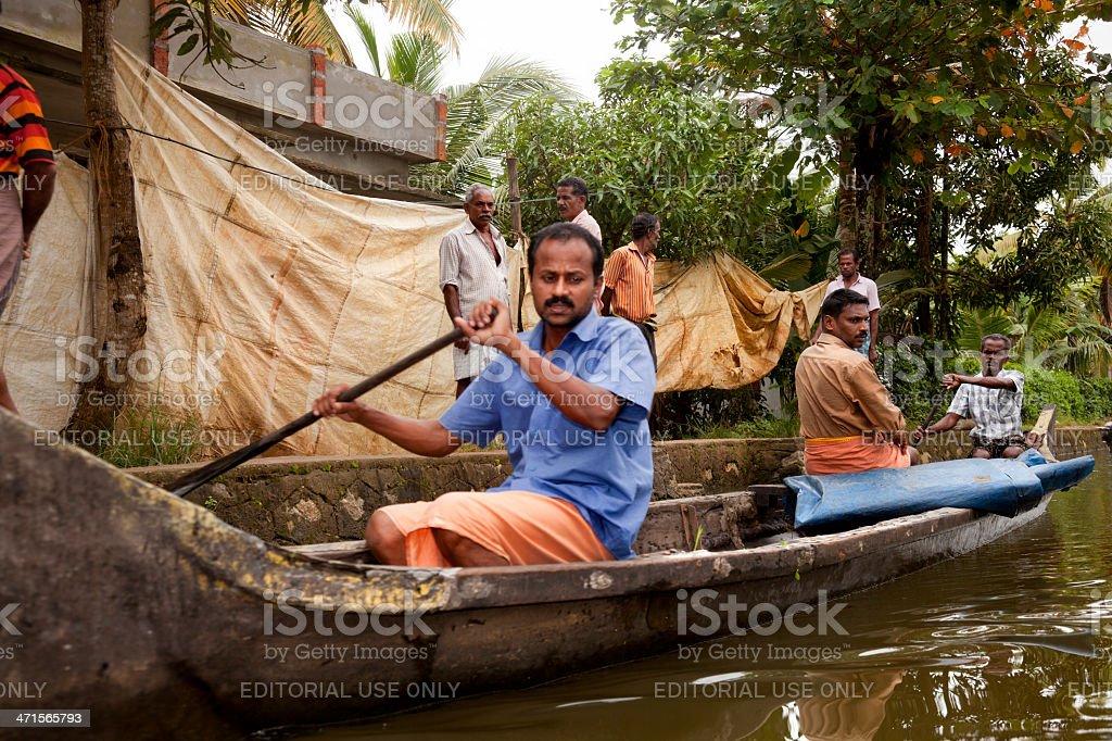 Allepy-Kerala royalty-free stock photo