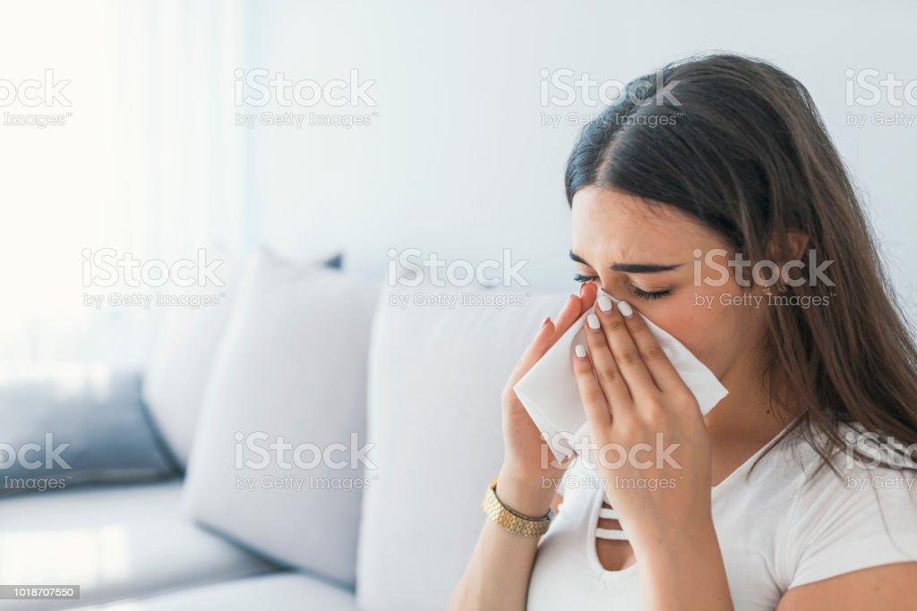 Allergic rhinitis stock photo