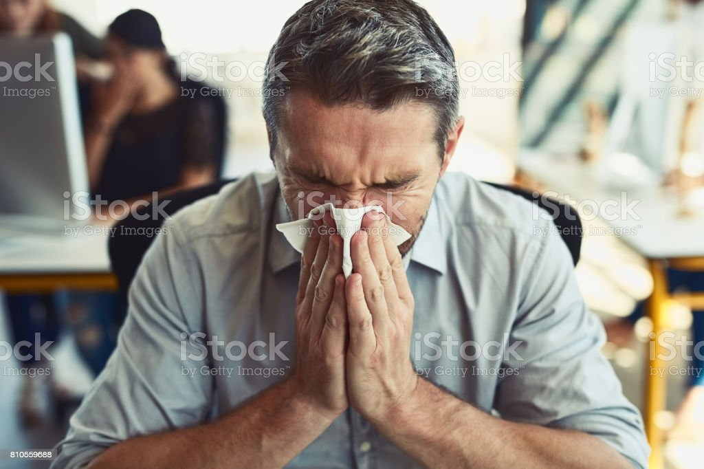 Allergies are just the worst stock photo