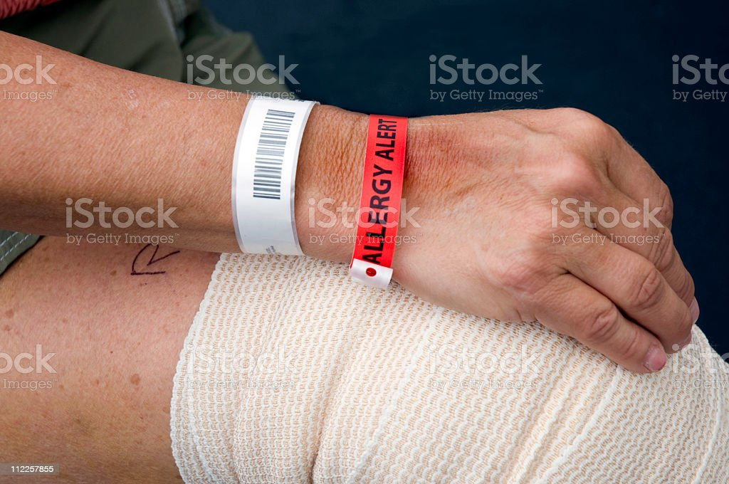 Allergy Alert and Identification stock photo