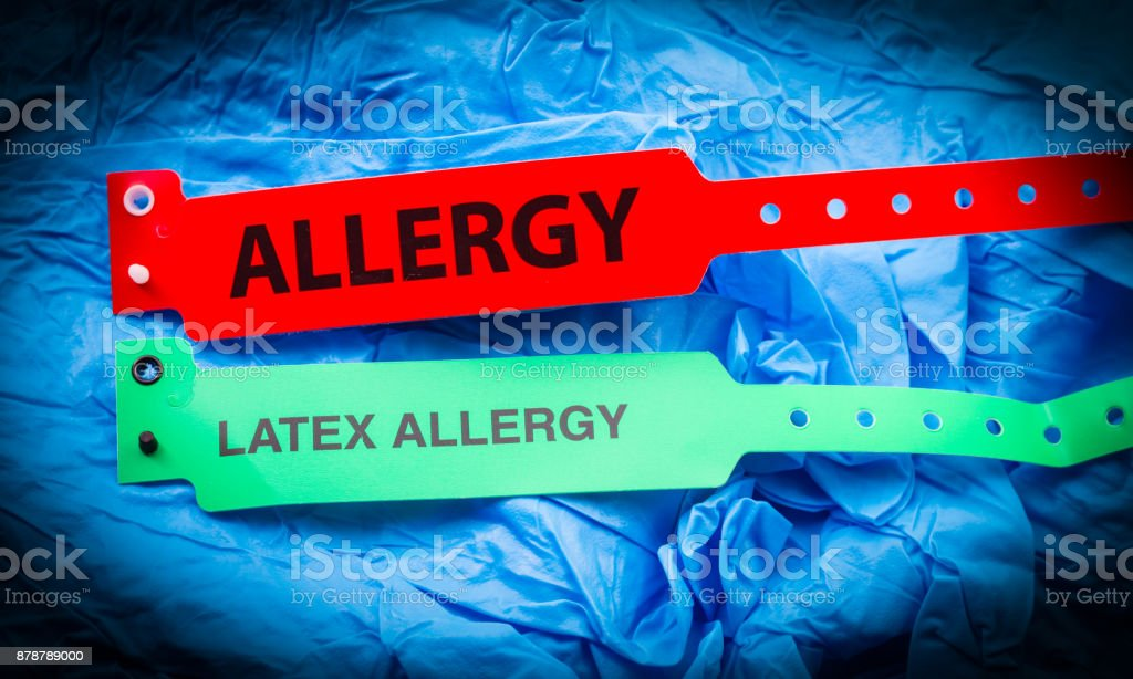 Allergy And Latex Allergy stock photo