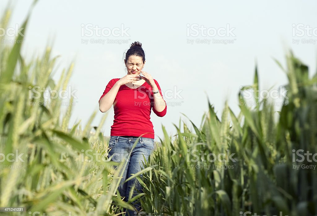 Allergy at Spring royalty-free stock photo