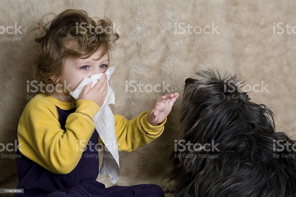 Allergy Child stock photo